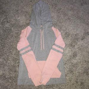 Zumiez (Zine) pink & gray hoodie